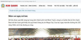 Kim Oanh Group, thương hiệu có nhiều tai tiếng trong giới BĐS ?