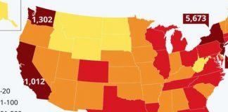 Mỹ tăng kỷ lục, đứng thứ 3 thế giới về số người nhiễm Covid-19