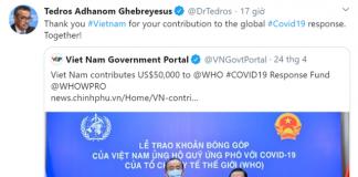 TGĐ WHO: Cảm ơn Việt Nam vì những cống hiến cho phản ứng Covid-19 toàn cầu!